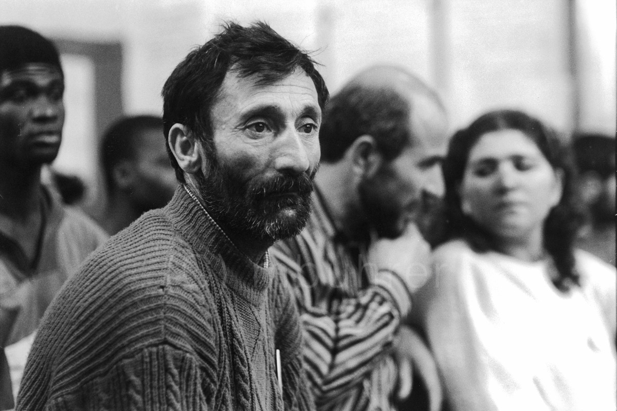Grève de la faim de réfugiés kurdes/Hunger strike of Kurdish refugeess, Paris, 27.05.1991