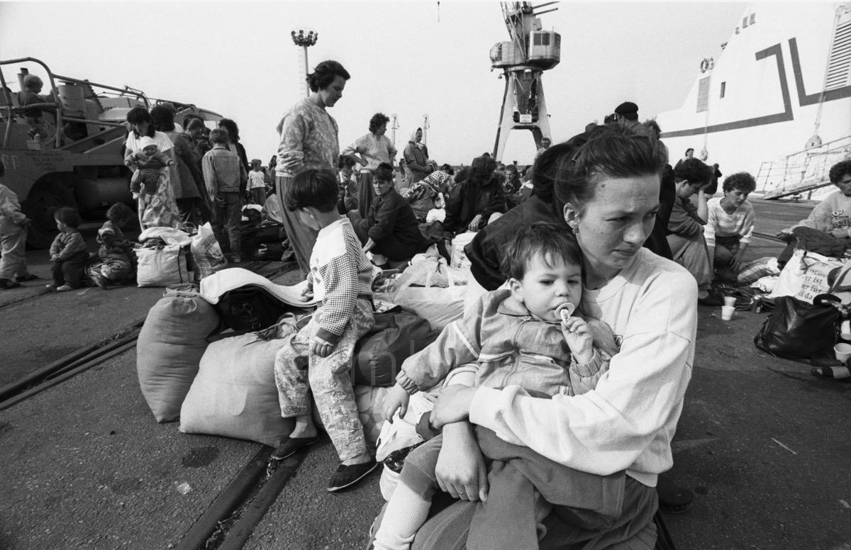 Réfugiés de Sarajevo/Refugees from Sarajevo,Split, 28.05.1992