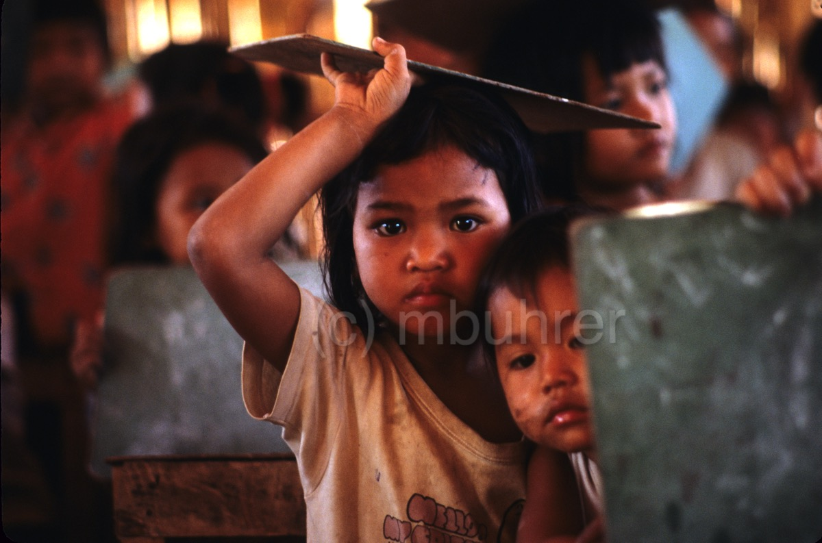 Camp de réfugiés cambodgiens, Thaïlande/ Cambodian's refugee camp, Thailand, 1989